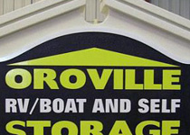 Oroville RV & Boat Storage Sign