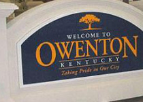 Owenton Kentucky Sign Monument