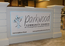 Parkwood Community Church Sign Monument