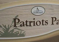 Patriots Park Sign Monument