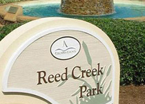 Reed Creek Park Sign Monument