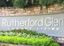 Rutherford Glen Apartment Entrance with CNC Routed Letters