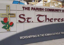 Saint Theresa Parish Community Sign