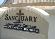 Sanctuary Community Church Sign