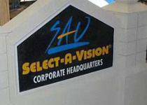 Select-A-Vision Sign Monument