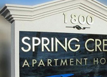 Spring Creek Apartment Sign Monument