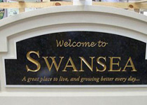 Swansea City Sign Monument