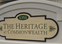 The Heritage At Commonwealth Sign