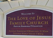The Love Of Jesus Family Church Sign Monument