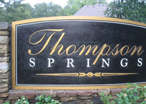 Thompson Springs Sign Monument