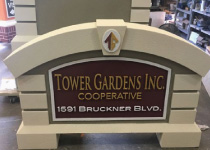 Tower Gardens Cooperatrive Main Identity Sign Monument with 3-D Graphics