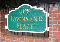 Townsend Place Sign Monument