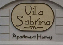 Villa Sabrina Apartment Homes Sign Monument