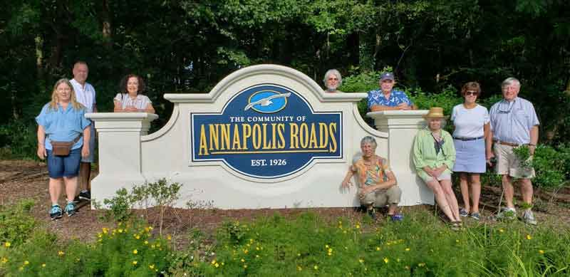 Annapolis Roads Community Entrance Sign Monument Installed