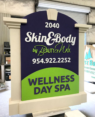 Skin and Body by Beauty of Wax Sign Monument Complete