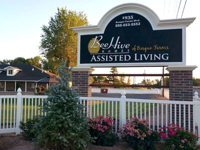 BeeHive Homes Assisted Living Sign Monument