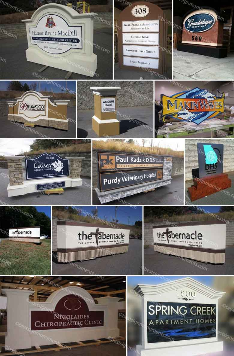 Best Sign Collage 04 - BestSignMonuments.com