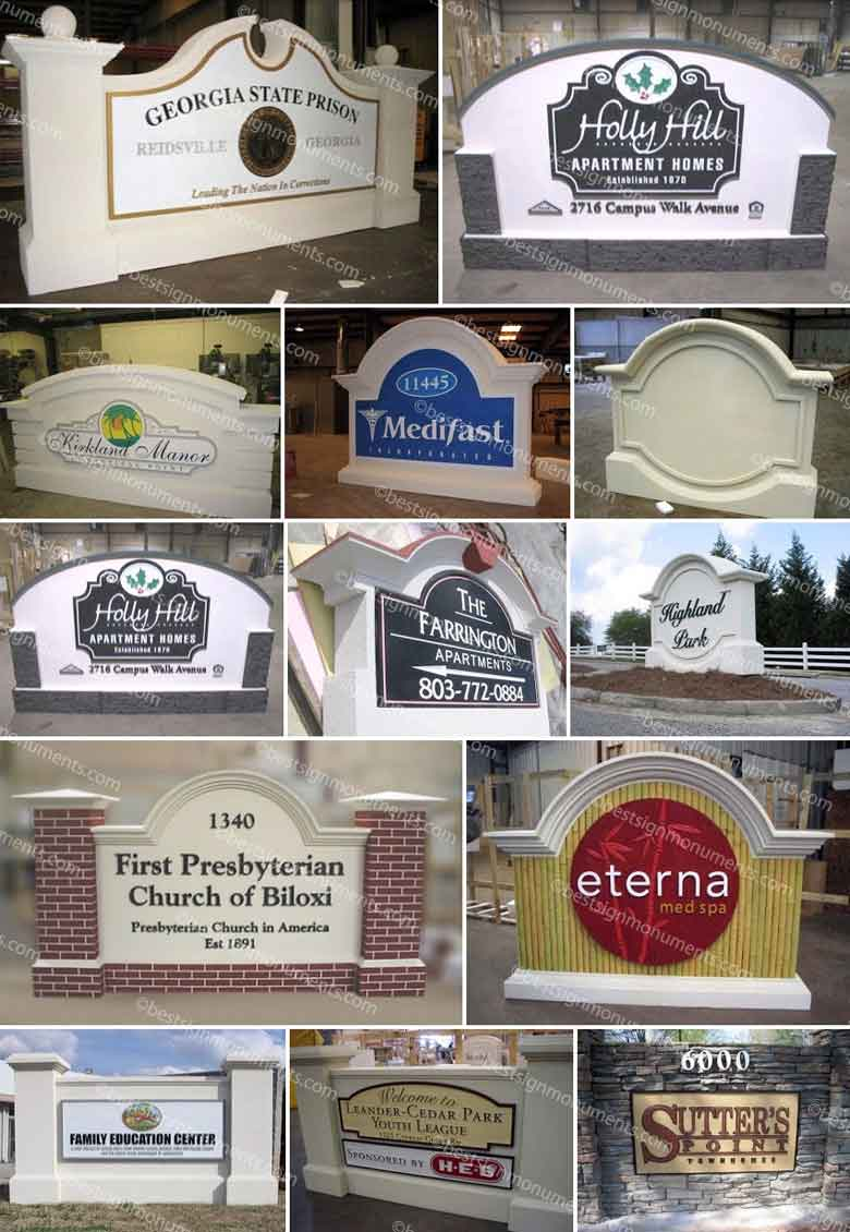 Best Sign Collage 07 - BestSignMonuments.com
