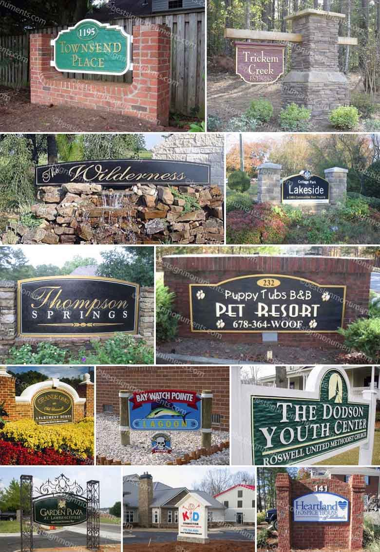 Best Sign Collage 12 - BestSignMonuments.com