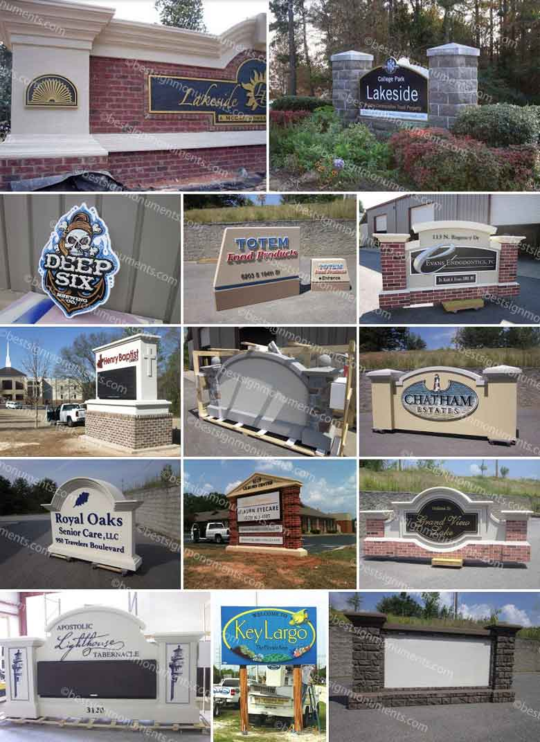 Best Sign Collage 13 - BestSignMonuments.com