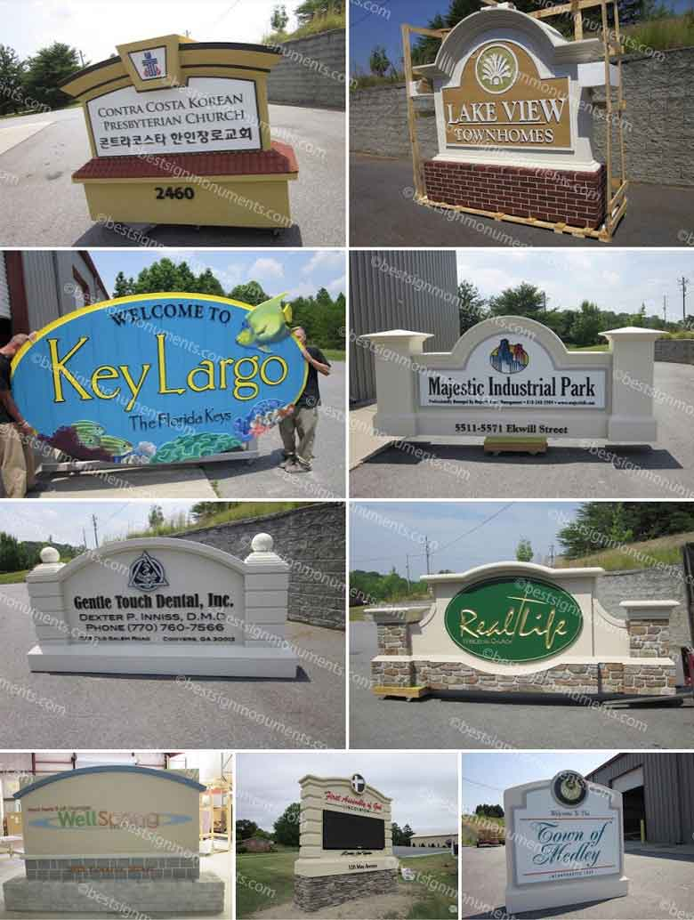 Best Sign Collage 14 - BestSignMonuments.com