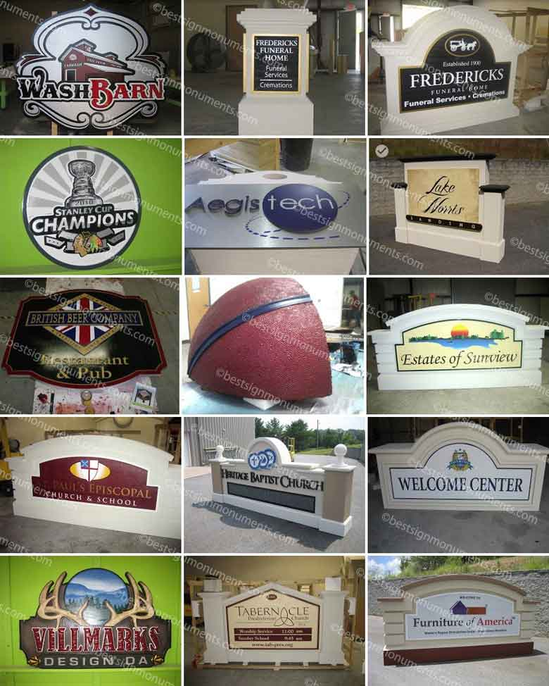 Best Sign Collage 17 - BestSignMonuments.com