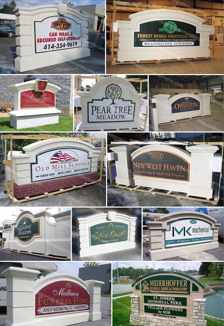 Best Sign Collage 20 - BestSignMonuments.com