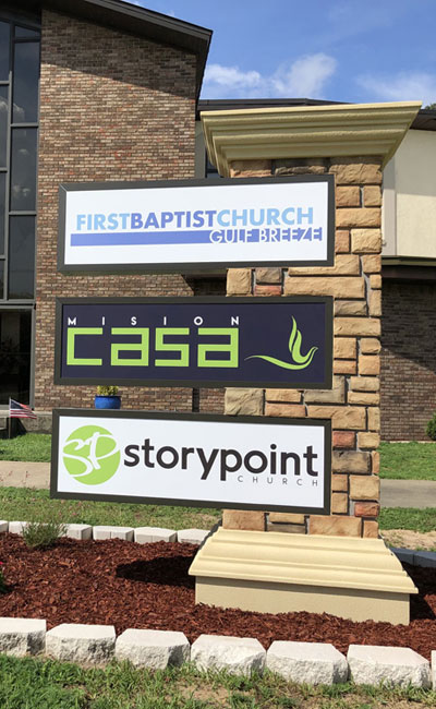Story Point Church Sign Monument Installed