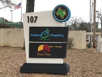 Pristine Property Management Sign Monument Installed