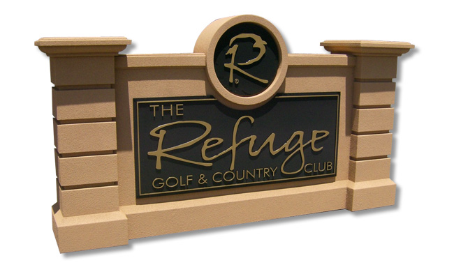 Golf Country Club Entrance Sign Monument