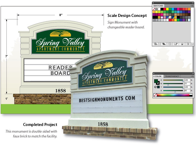 Best Sign Monuments Design Studio Illustration