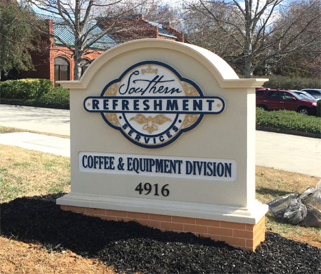 Southern Refreshment Services Sign Monument Installed