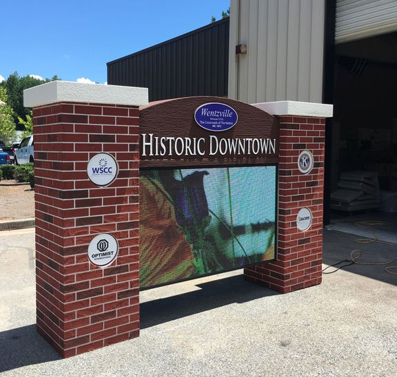City of Wentzville Historical District with Full-Color LED Cabinets