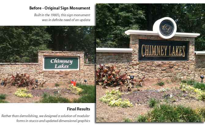 Recycle and Re-Vamp Sign Monument Design