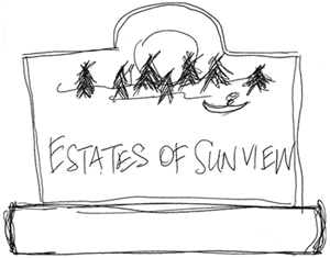 Customer Provided Rough Sketch of Sign Design Idea They Wanted