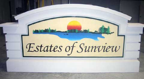 Custom Sign Monument Design Estates of Sunview